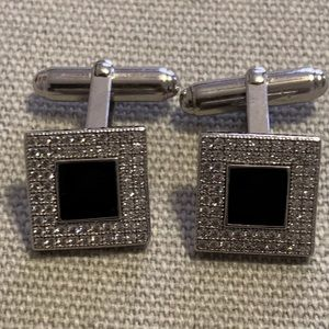 Authentic Diamond BVLGARI square cufflinks